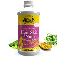 Buried Treasure Hair, Skin and Nails with MSM Biotin Aloe Vera Plus Vitamins and...