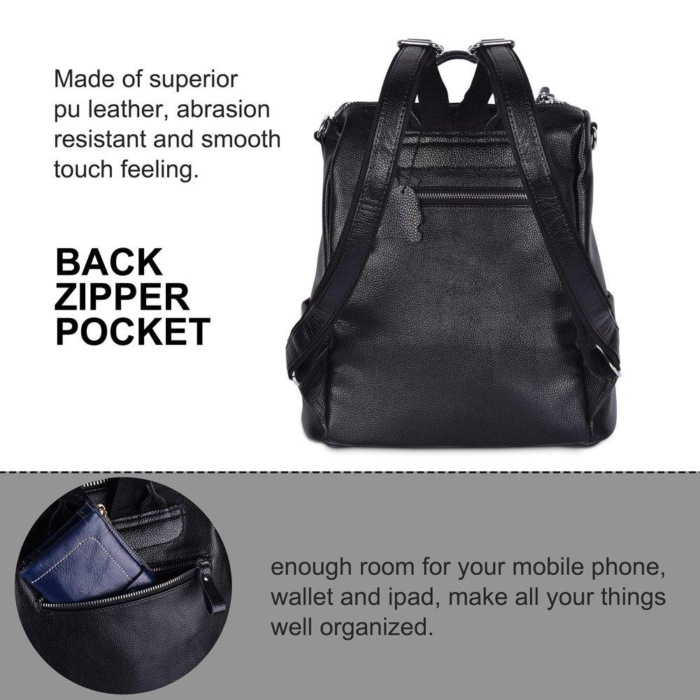 44cd9d24191b4 Vbiger Damen Rucksack Leder Daypack Synthethisch Leder Rucksack  Schulrucksack Backpack  Amazon.de  Koffer