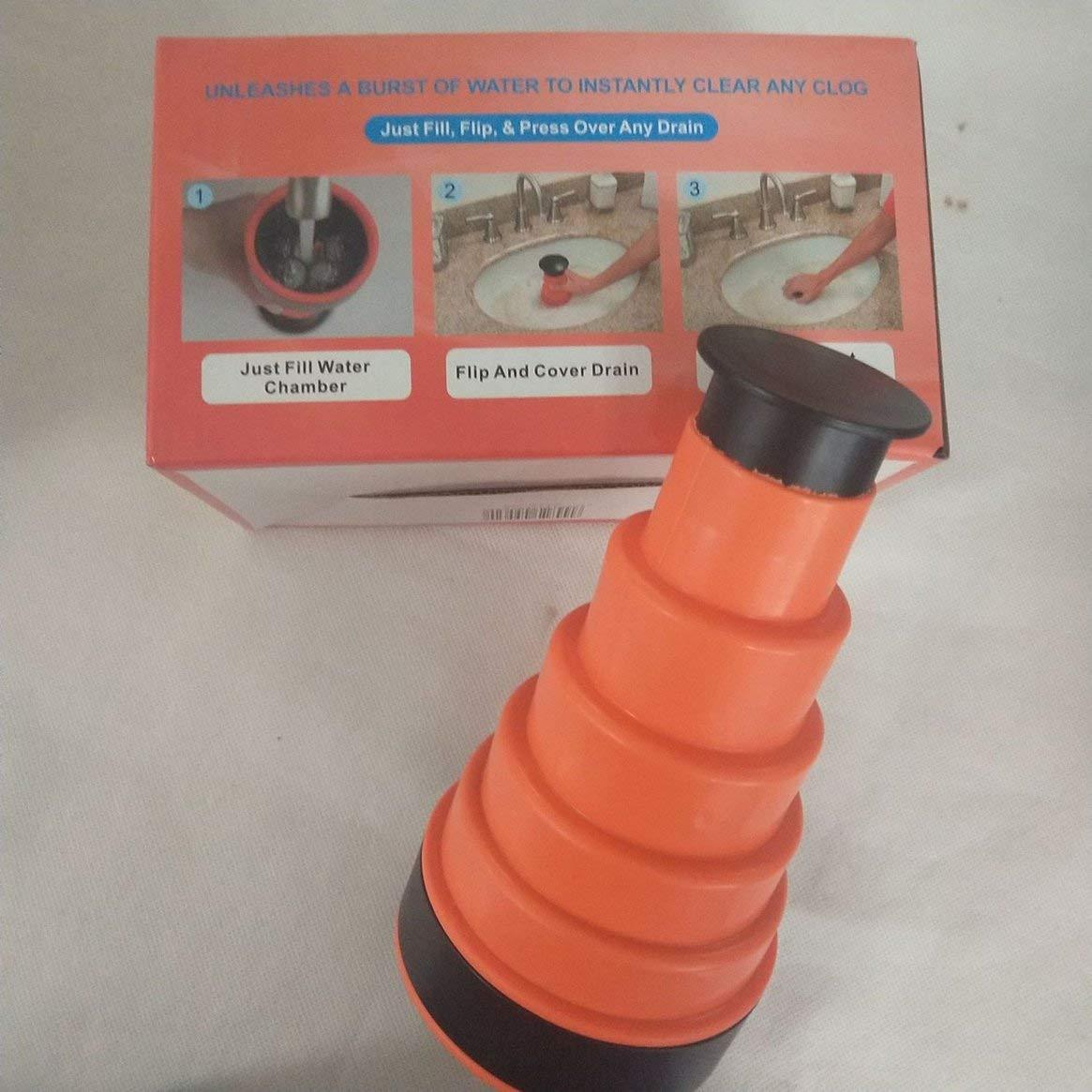 Drainer obstruer le plongeur Cannon haute pression puissant air manuel Power Drain plongeur /é vier blaster pour cuisine salle de bain multicolore Delicacydex
