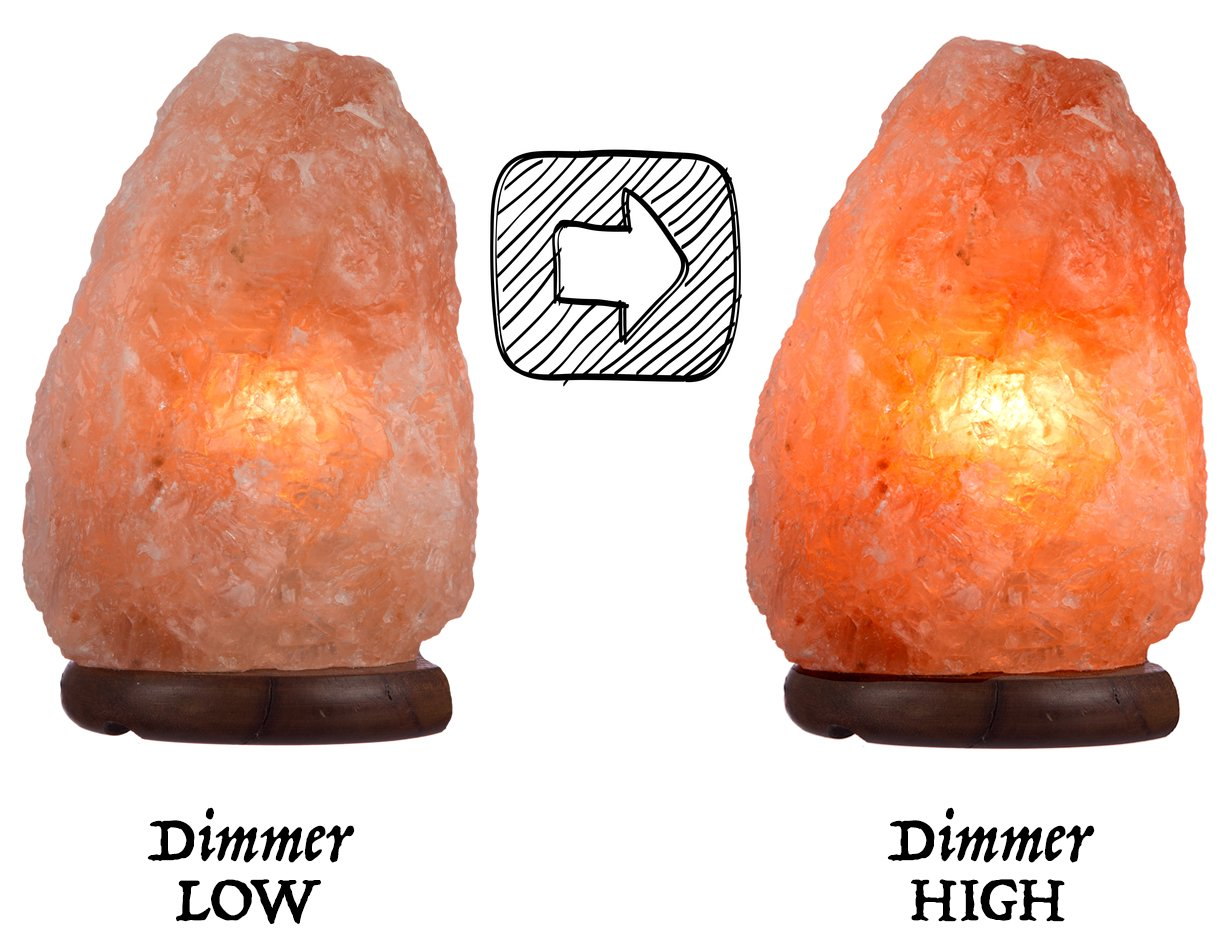 Ambient Salt Lamp Authentic Himalayan Lamp 7-9'' 7-9 lbs Hand Crafted Natural Crystal Salt Rock with UL Listed and Certified Dimmer Switch by Ambient Salt Lamp (Image #6)