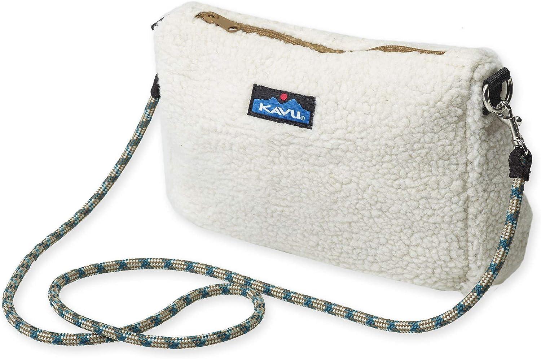 KAVU So Fleecy Crossbody Bag Sherpa Rope Strap Purse