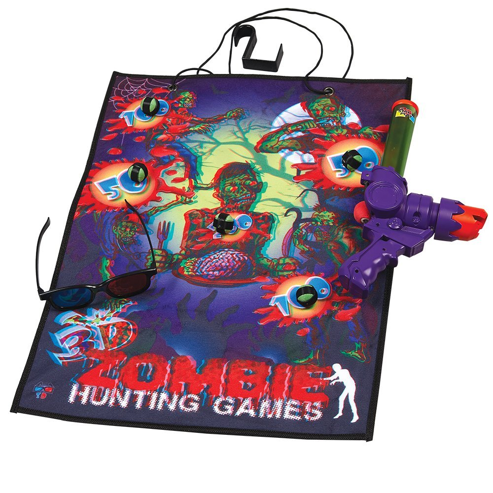 Wham-O Stay 'N Play 3D Zombie Hunt Variety Game Sets,  4.8 x 10 x 12.8 inches, red and Purple