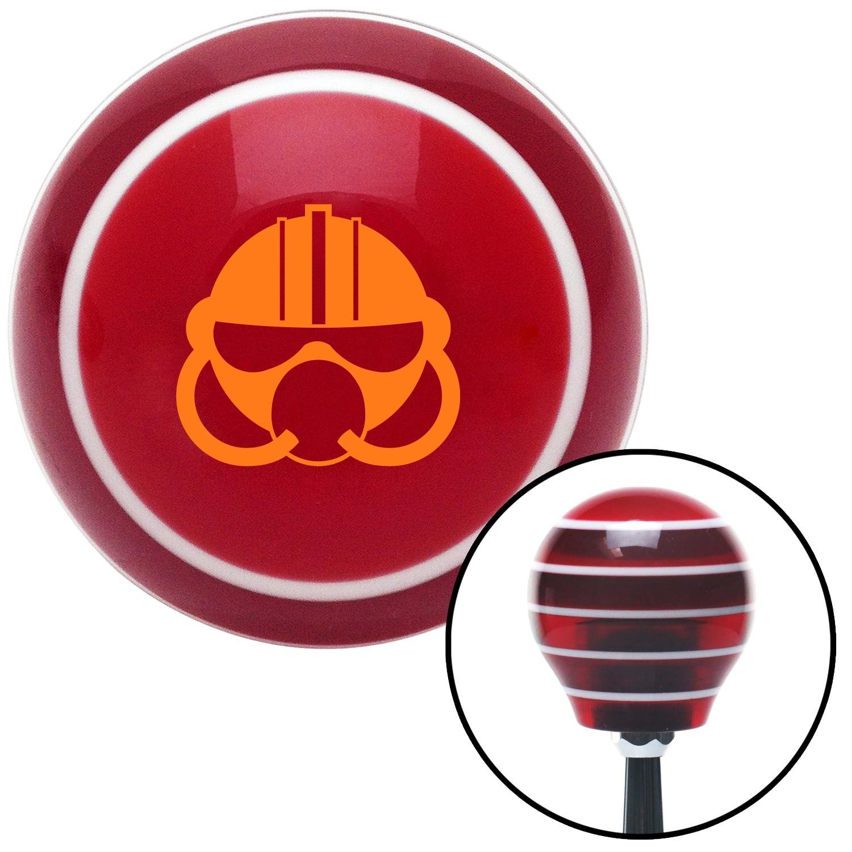 Orange Gas Mask American Shifter 116636 Red Stripe Shift Knob with M16 x 1.5 Insert