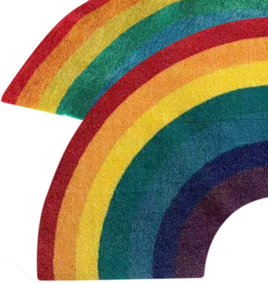 Blanchel Rainbow Mats Colorful Multi-Function Floor Mat Door Mat Kitchen Living Room Bedroom Decorative Carpet mat
