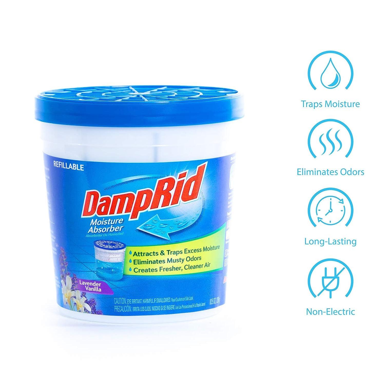 Amazon.com: Absorbente de humedad DampRid recargable ...