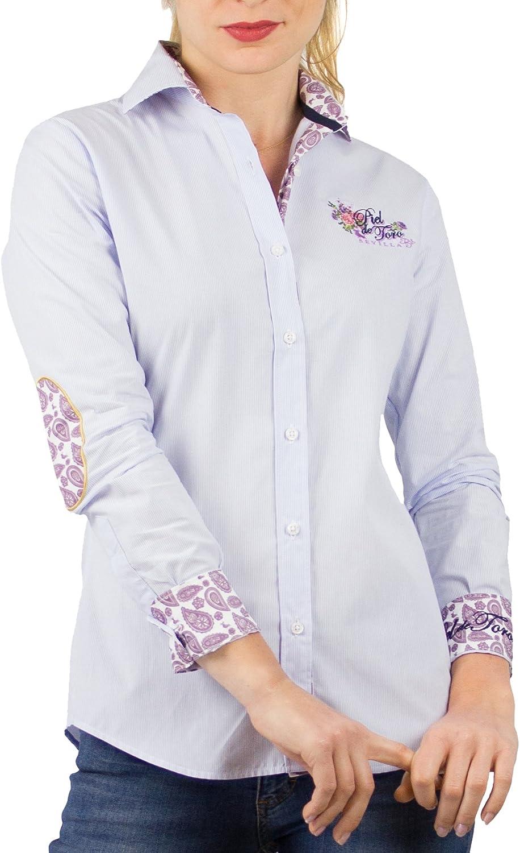 Piel de Toro 42146545 Camisa, Azul (Celeste 17), Small (Tamaño del Fabricante:S) para Mujer: Amazon.es: Ropa y accesorios