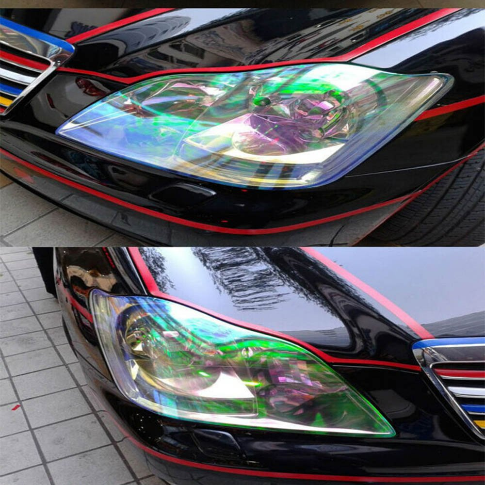 Gold HOHO 30cmx200cm Chameleon Headlight Tint Rear Color Light Film TailLight Foil Lamp Wrap Vinyl Car Motorbikes Motorcycles Truck Bus