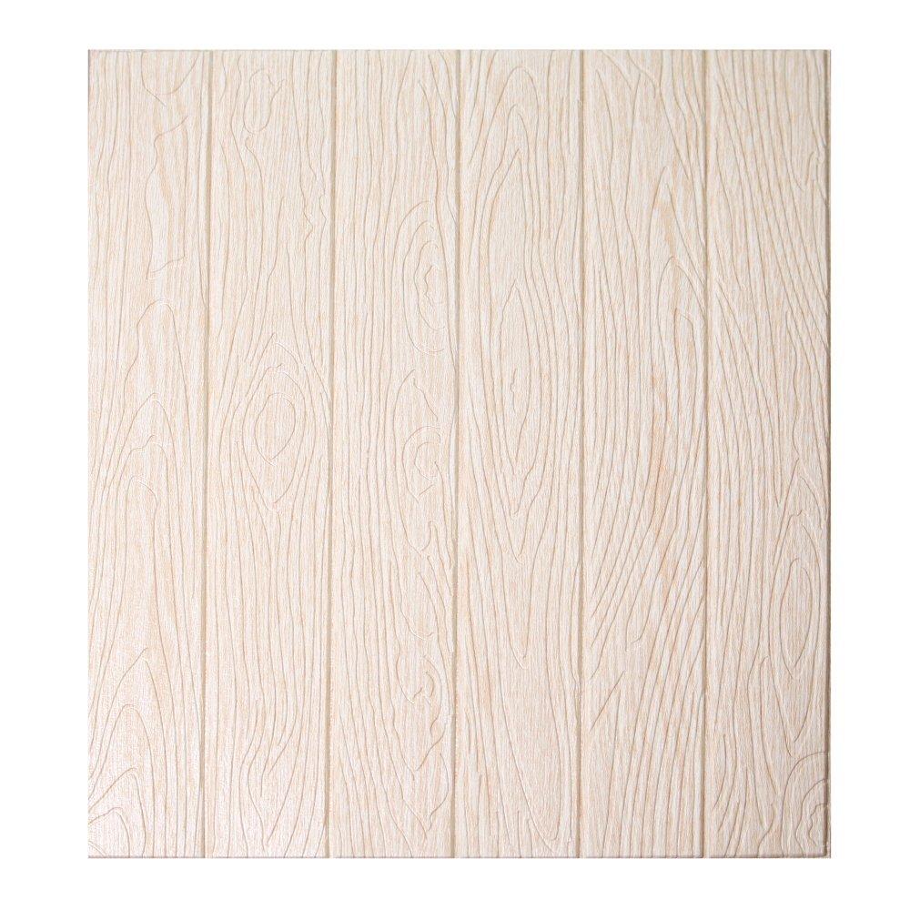 CUKULIFE 3D立体壁紙はがせる壁紙シール DIY ウォールステッカー ステッカー ステッカー 防音 防水 耐久 断熱 のしわ 壁紙シール PE材料 木目模様 (ベージュ, 10) B07C5P8DNWベージュ