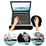 Keyboard and Mouse Wrist Rest Pads - Non-slip Rubber Base Soft Wrist Cushion Pad with Memory Foam - By Duomishu