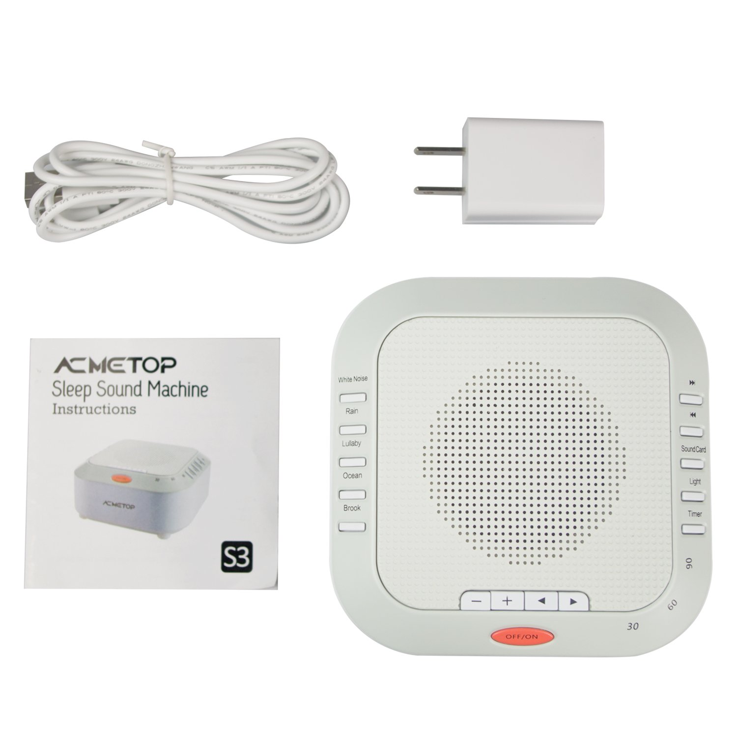 [New Upgrade] Rechargeable White Noise Machine, ACMETOP Portable Sleep Therapy Sound Machine for Baby, Kids, Home, Travel with High Fidelity Nature Sound, Soft Night Light by ACMETOP (Image #9)