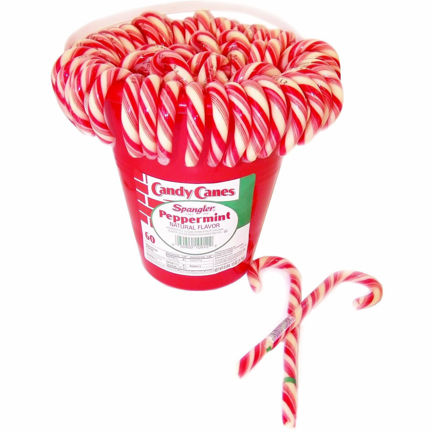Traditional Peppermint Candy Canes 60ct. Tub by Candy Crate