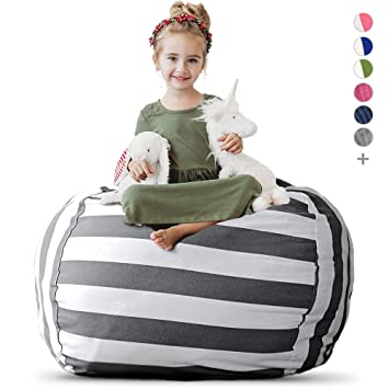 Wondrous Creative Qt Stuffed Animal Storage Bean Bag Chair Extra Large Stuff N Sit Organization For Kids Toy Storage Available In A Variety Of Sizes And Squirreltailoven Fun Painted Chair Ideas Images Squirreltailovenorg