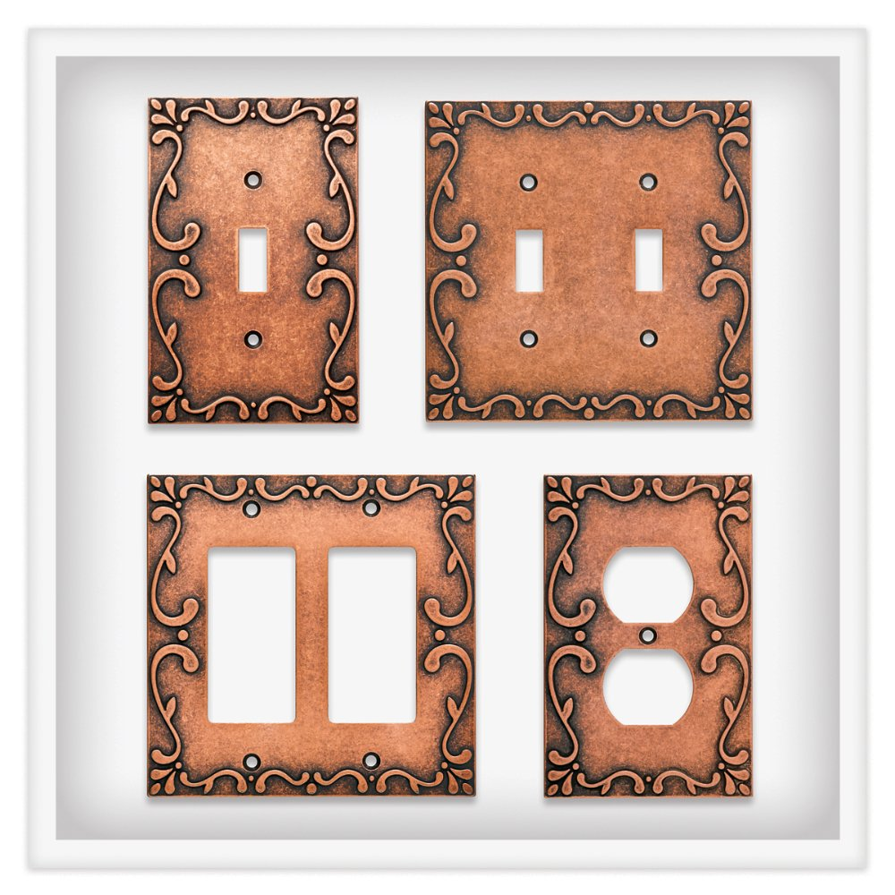 Franklin Brass W35075-CPS-C Classic Lace Switch/Decorator Wall Plate/Switch Plate/Cover, Sponged Copper by Franklin Brass (Image #4)