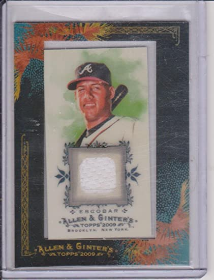 2009 Allen Ginters Yunel Escobar Braves Game Used Jersey Insert Baseball Card