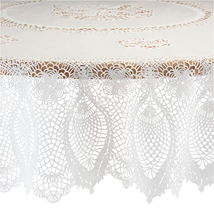 Amazoncom Miles Kimball Vinyl Lace Tablecloth Home Kitchen
