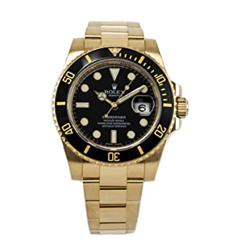 Amazon.com Rolex Submariner Date Yellow Gold Ceramic Black