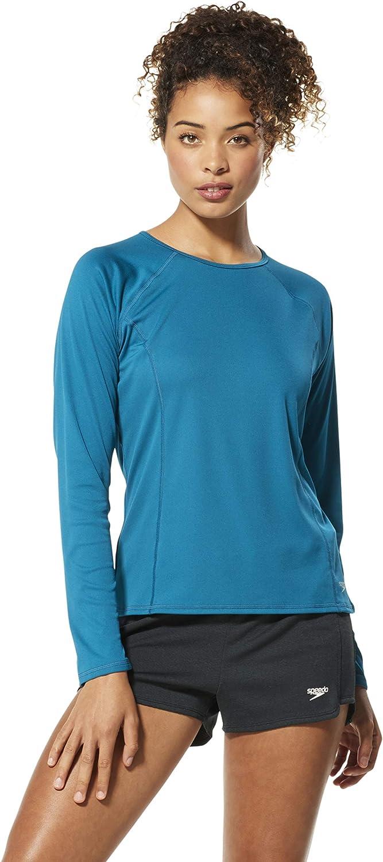 Speedo Women's Uv Swim Shirt Long Sleeve Rashguard - Manufacturer Discontinued