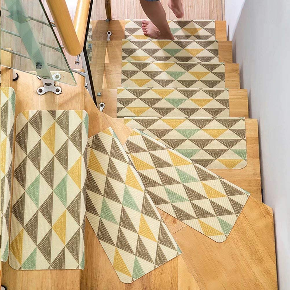 Seamless Adhesive Pad-Square,35.5x9.5x1.7 inch Non-Slip Floor Step Mats Anti-Skid Stairs Rug VOCOOL Pack of 5 Carpet Stair Treads Cuttable