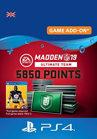 Madden NFL 19 Ultimate Team 5850 Points Pack - 5850 Points DLC | PS4