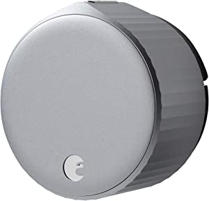 August Wi-Fi Smart Lock (Newest Model 4th Gen) - Alexa, Google Assistant, Home Kit, SmartThings and Airbnb Compatible - Upgrade Your Deadbolt - Silver