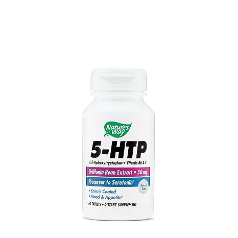 Natures Way - 5-HTP con B-6 y vitamina C (Extracto de