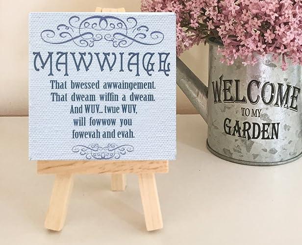 Mawwiage... Fowevah and Evah - Princess Bride Sign
