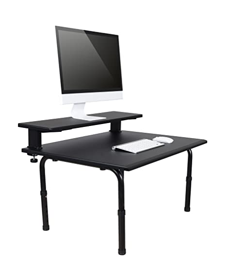 Marvelous Standing Desktop Converter With Monitor Shelf Convert Your Desk To A Standing Desk In Seconds Sit To Stand Desk Converter Download Free Architecture Designs Scobabritishbridgeorg