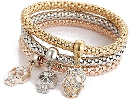 Hot Fashion Rose Gold Plated Crystal Rhinestone Women/'s Bracelet Chain Size 22cm