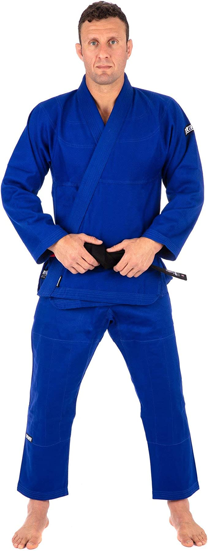 Black Tatami Fightwear Unisexs dlx-blk-comp-belt-A3 Deluxe BJJ Competitor One Size