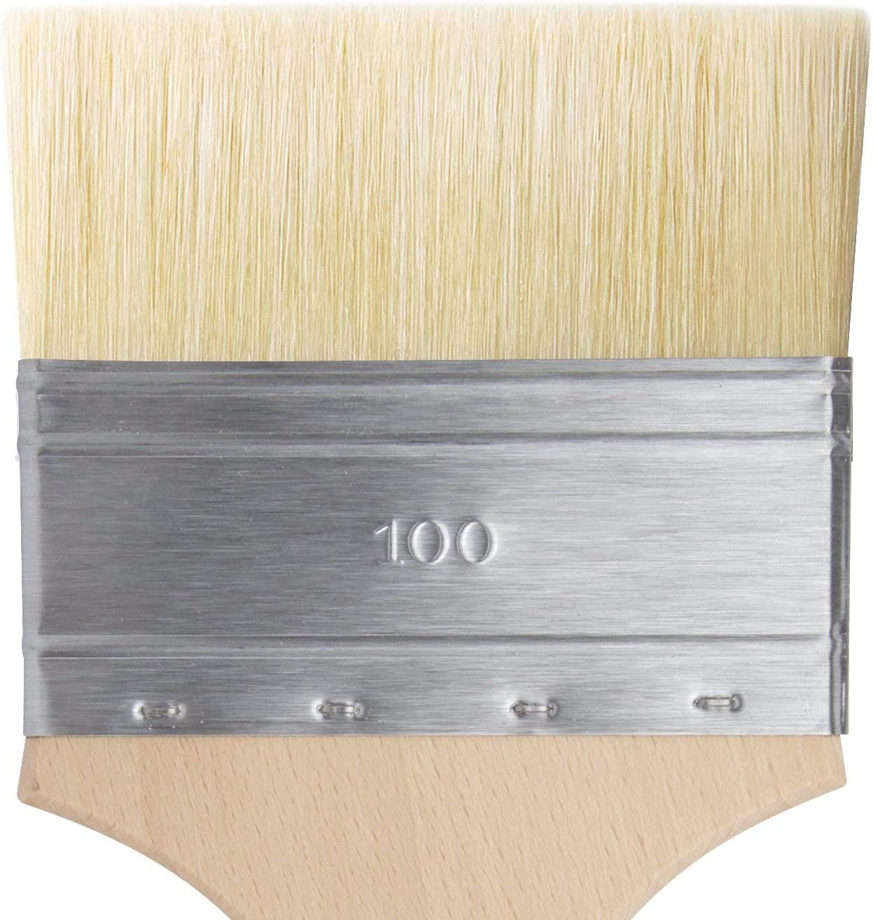da Vinci Varnish /& Priming Series 2470 Mottler Brush 2470-20 Medium Hog Bristle with Plainwood Handle Size 20