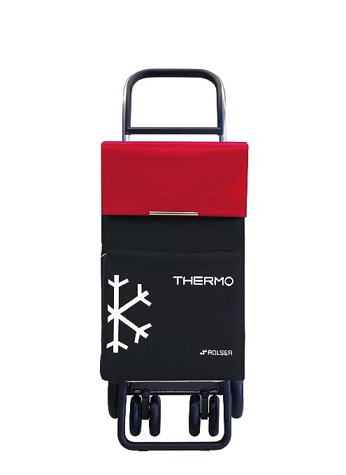 Rolser Carro Termo, Poliester y Aluminio, Negro/Rojo, 34X41X106.5 cm