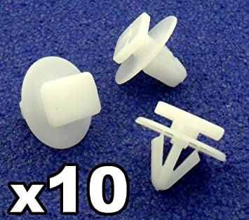 10x ombo Clips Sujeción Paso Rueda y Embellecedor Guardabarros Para - Remaches Plásticos - Coche Grapas (122920) - Franqueo libre!: