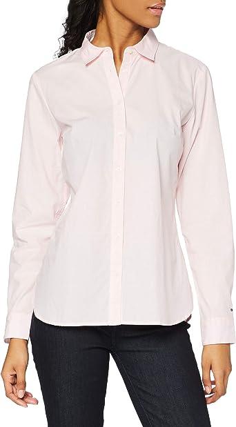 Tommy Hilfiger Haria Shirt LS W2 Blusa, Rosa (Dobby PRT ...