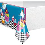 """Unique Party 49503 - Tovaglia Plastificata Tea Party """"Cappellaio Matto"""", 213 cm x 137 cm"""