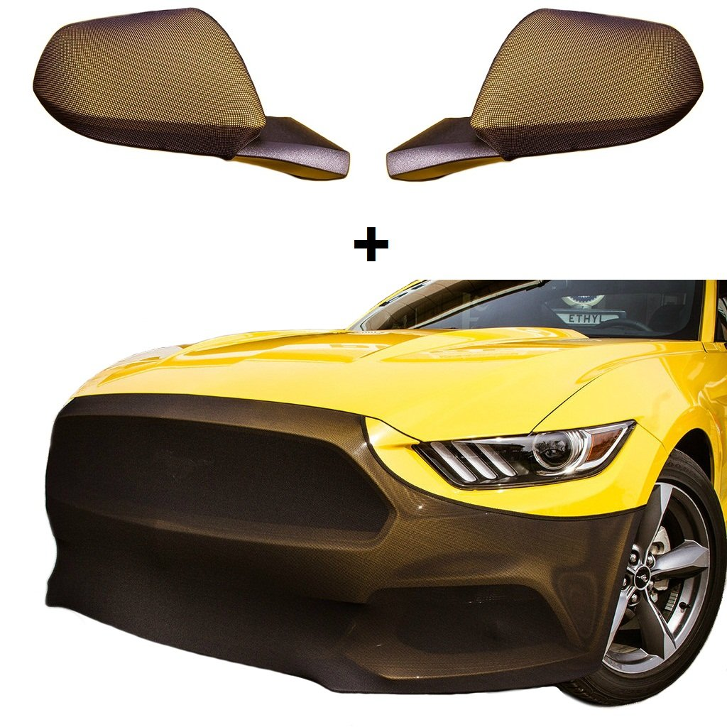 MIDWEST CORVETTE Mustang NoviStretch Front + Mirror Bra High Tech Stretch Mask Combo Fits: All 2015 and Later 6th Gen Mustangs (Except The Shelby)