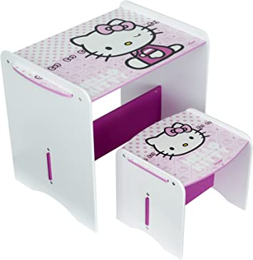 Worlds Apart Hello Kitty Table And Stool Amazon Co Uk Kitchen Home