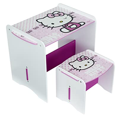Tavolino Hello Kitty Legno.Worlds Apart 461hek01 Set Di Tavolo E Sedia Hello Kitty