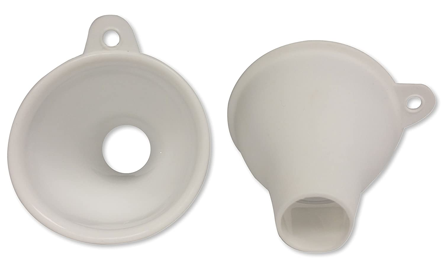 Silicone Mini Spice Funnel No Clog Large Bottom Opening for Fast Pouring of Powdered Leafy and Whole Spices by SpiceLuxe