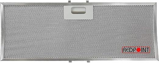 Filtro de aluminio curvo para campana extractora Elica, Turboair 449,5 x 172 x 9 mm: Amazon.es: Hogar