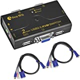 Sea Wit KVM VGA Switch USB 2.0 Hub Support Shared Audio and Microphone