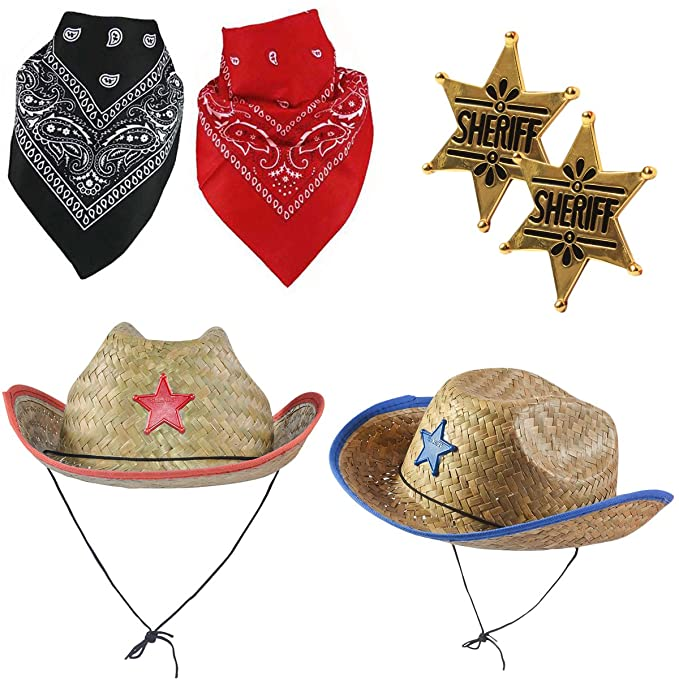 35ac2e116 Funny Party Hats Cowboy Party Hats - Sheriff Costume for Kids - Cowboy Hats  - Dress up Hats