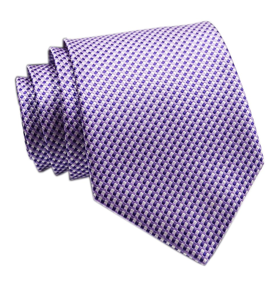 Men's Violet Purple Polyester Ties Casual Party Wedding Spring Summer Neckties