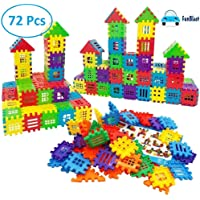 FunBlast Building Blocks for Kids – 72 Pcs, Big Size House Building Blocks with Windows, Block Game for Kids,Boys,Children (72 Blocks)