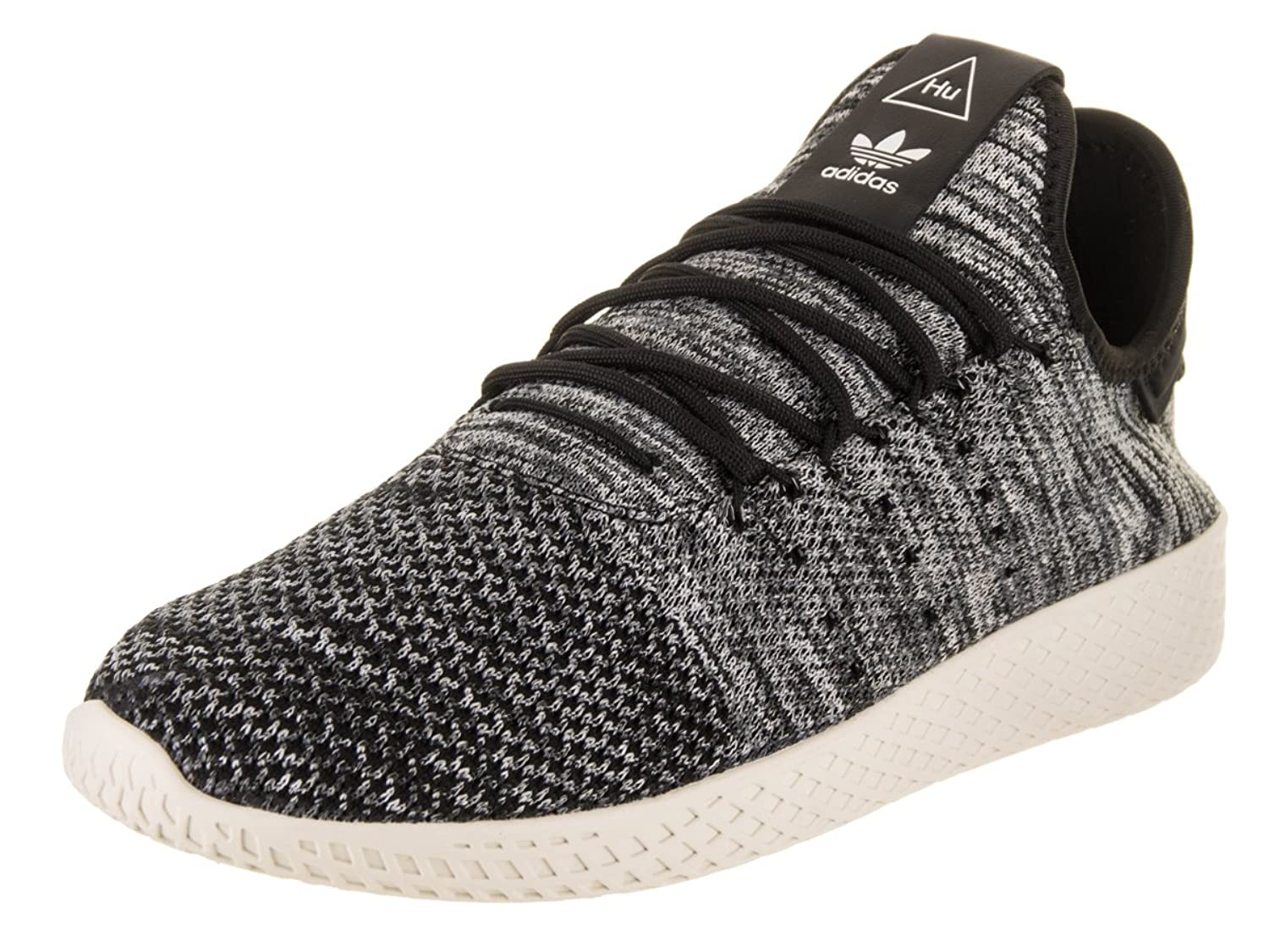 adidas Originals Pharrell Williams Tennis HU Pimeknit Shoe Men\'s Casual 13 Chalk White-Core Black-Cloud White