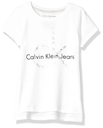 1b0626a2 Amazon.com: Calvin Klein Girls' CK Logo Tee: Clothing