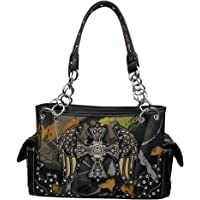 La Dearchuu Handbags for women PU Leather Rhinestone Studded Wristlet Bags Ladies Shoulder Bag Western Studded Handbag…