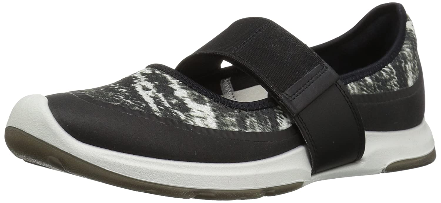 ECCO Women's Biom AMRAP Mary Jane Fashion Sneaker B01MCXSQ6T 40 EU / 9-9.5 US|Black/Black White