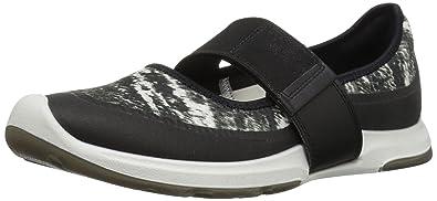 ECCO Women's Women's Biom Amrap Mary Jane Fashion Sneaker, Black/Black White,  35