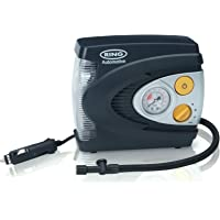 Ring RAC620 12V Analogue Tyre Inflator, Air Compressor Tyre Pump, LED Light, Adaptor Set and Case