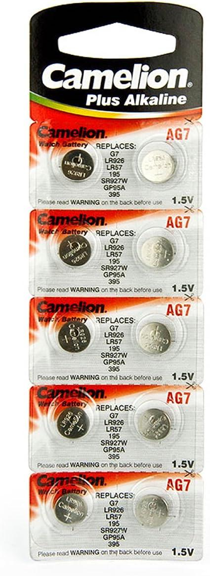 10 Camelion Ag7 Lr57 195 395 Knopfzelle Alkaline Elektronik